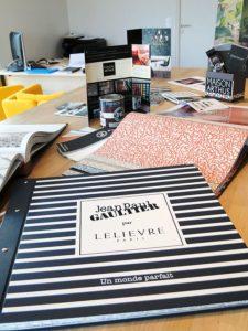 Collection Jean Paul Gaultier 2019 par LELIEVRE; disponible à notre show room.
